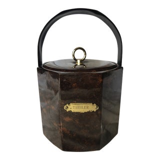 20th Century Hollywood Regency Georges Briard Tortoiseshell Engraved Ice Bucket For Sale