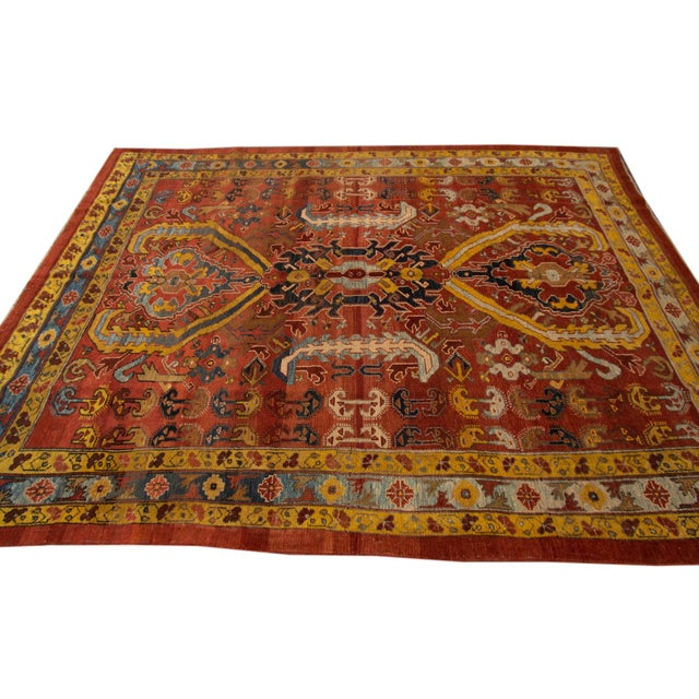 Vintage hand-knotted Persian Tribal Bakshaish Rug with a tribal design. This piece has fine details, great colors, and a...