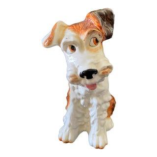 "VTg English Sylva C Ceramics Figurine Terrier Dog 11.5"" H For Sale"