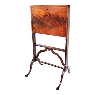 Flat English Secretary Field Desk For Sale