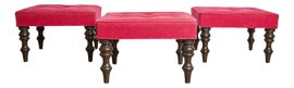 Image of Red Ottomans and Footstools