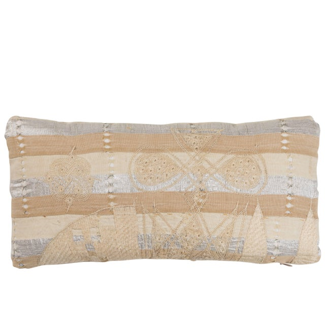 Mid 20th Century African Embroidery Pillow For Sale - Image 5 of 5