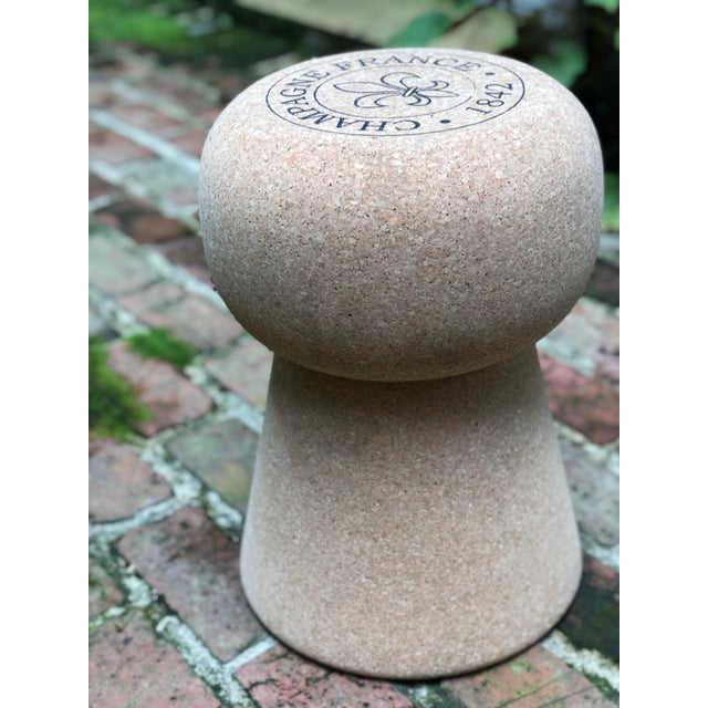 Tan Champagne Cork Side Table For Sale - Image 8 of 10
