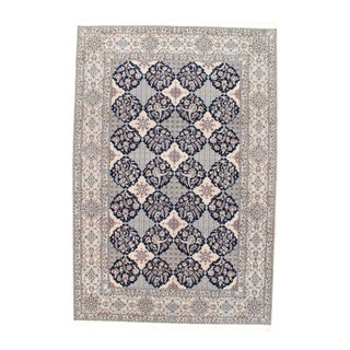 "Pasargad N Y Persian Nain 6-Lines Hand-Knotted Lamb's Wool & Silk Rug - 6'9"" X 9'10"" For Sale"