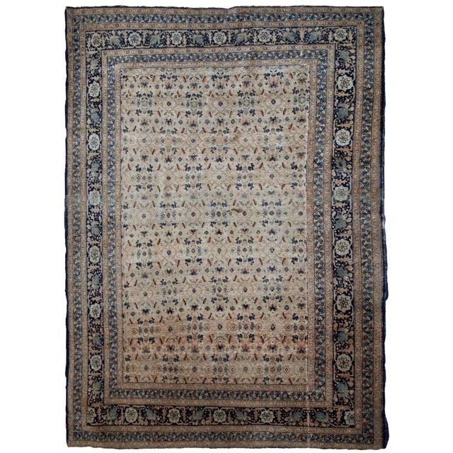 1880s Handmade Antique Persian Tabriz Hajalili Rug 4.2' X 6.5' For Sale - Image 13 of 13
