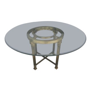 Fab 70's Mastercraft Greek Key Dining or Center Table For Sale
