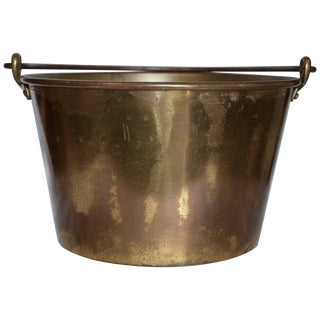 Midcentury Brass Bucket With Handle From France For Sale