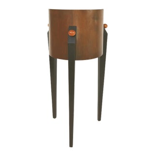 Memphis Art Deco Style Tall Pedestal Table For Sale