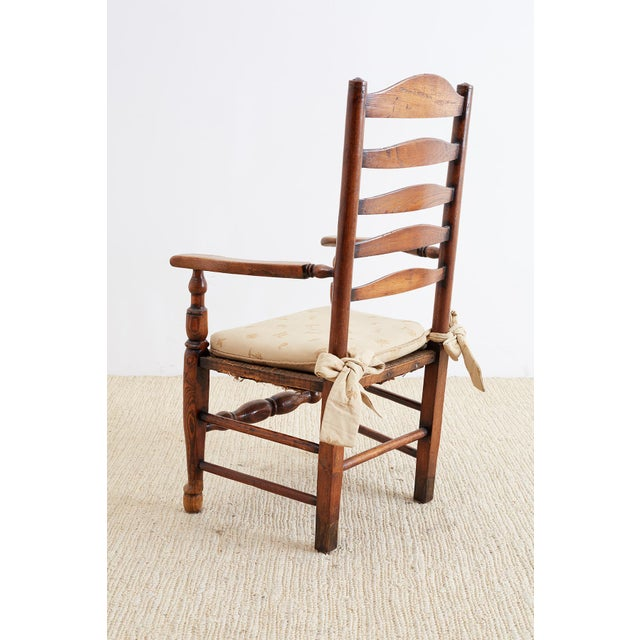 19th Century English Ladder Back Chair For Sale - Image 9 of 13