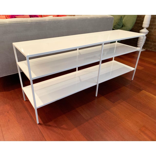 Contemporary Room and Board Metal Shelving Unit For Sale - Image 3 of 10