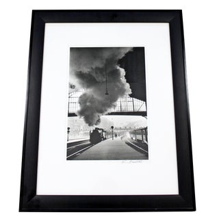 Framed Photograph Signed by Edouard Boubet Gare Saint-Lazare For Sale