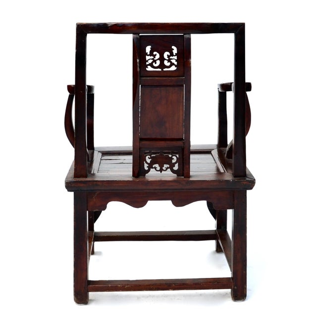 Antique Chinese Wood Carved Chair - Image 4 of 8