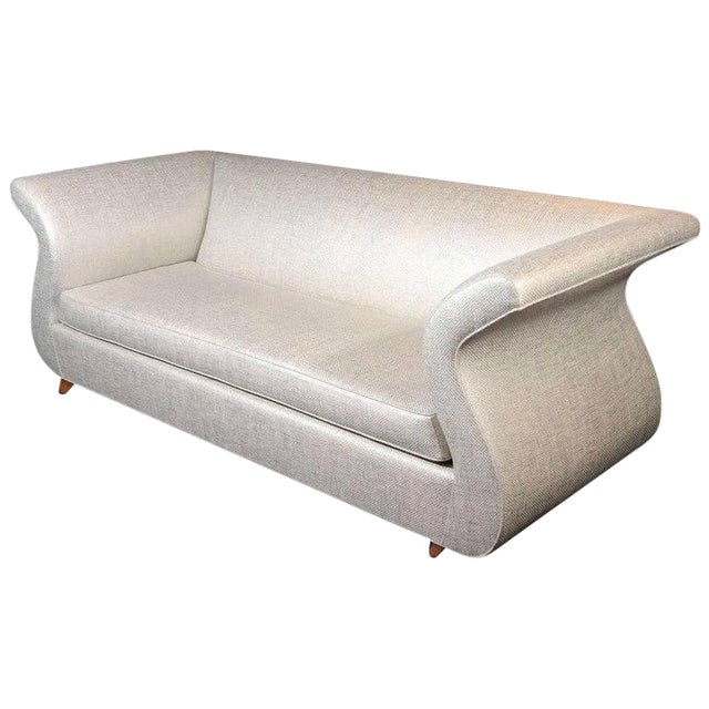 Hollywood Regency Swan Sofa Designed by Dialogica For Sale