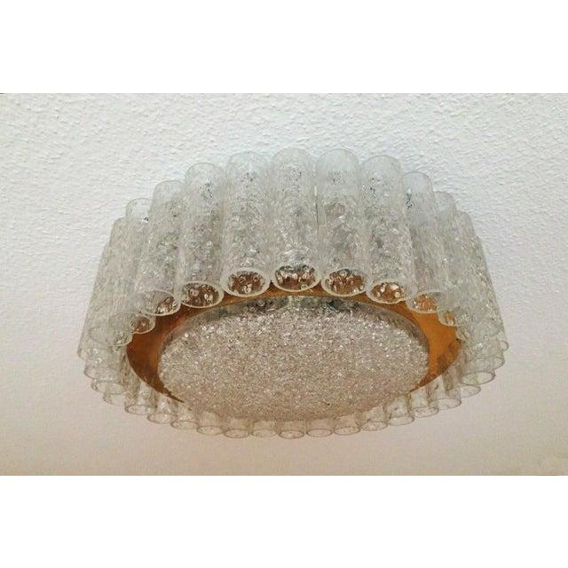 Mid-Century Glass Tube Chandelier by Doria Lichtenwerken For Sale - Image 11 of 11