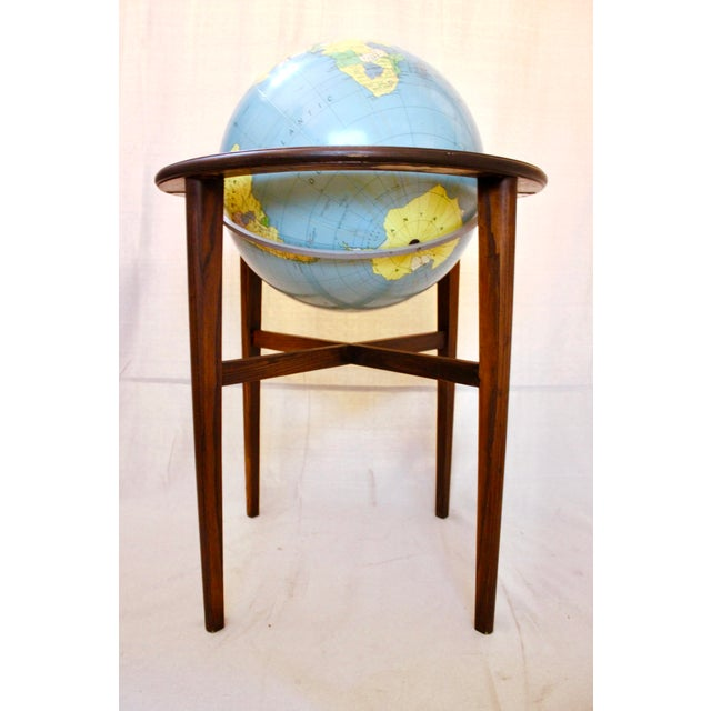 Mid-Century Modern A J Nystrom & Co. 1968 Standing Library Globe For Sale - Image 3 of 12