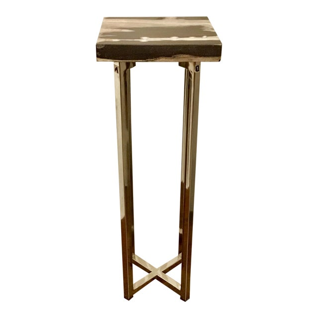 Contemporary Interlude Home Argo Square Drinks Table For Sale
