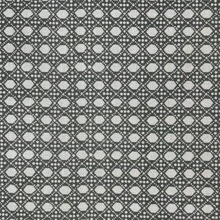 LuRu Home Wickerwork Fabric, 1 Yard in Smoke For Sale