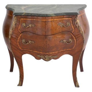 Louis XV Style Marble-Top Bombe Chest For Sale