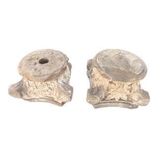 19th Century English Neo-Gothic Limestone Capitals- a Pair For Sale