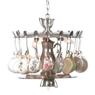 Vintage Tea Party Chandelier For Sale