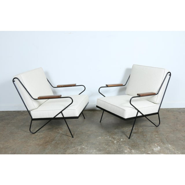Wrought Iron Modern Chairs - A Pair - Image 4 of 9
