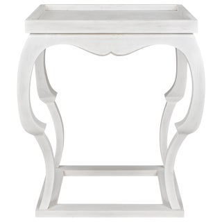 Bellini Side Table, White Wash For Sale