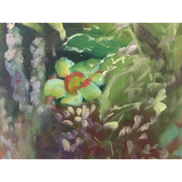 """""""Garden Flowers"""" Botanical Still Life Oil Painting by Marina Movshina For Sale - Image 4 of 7"""