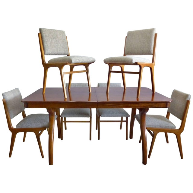 Giuseppe Scapinelli De Rosa Wood Dining Table and Chairs Circa 1960 For Sale - Image 11 of 11