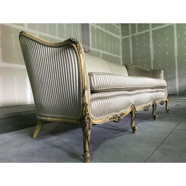 Early 20th Century Vintage Louis XV Style Sofa Cabriole Leg For Sale - Image 9 of 10