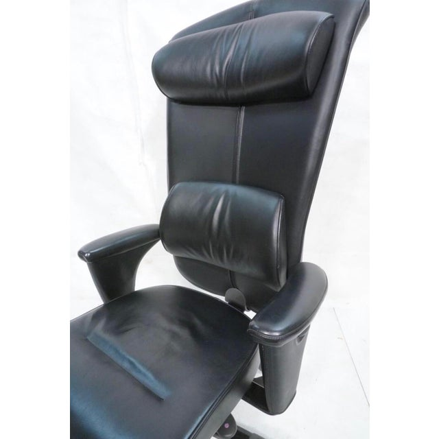 Black Leather Hag Signet Executive Chair - Image 3 of 4