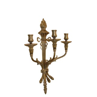 1920s French Louis XVI Style Bronze Sconce For Sale