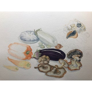 Still Life of Mushrooms and Other Vegetables For Sale