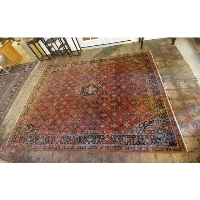 Islamic Vintage Persian Sarouk Rug- size 9x10 ft For Sale - Image 3 of 11