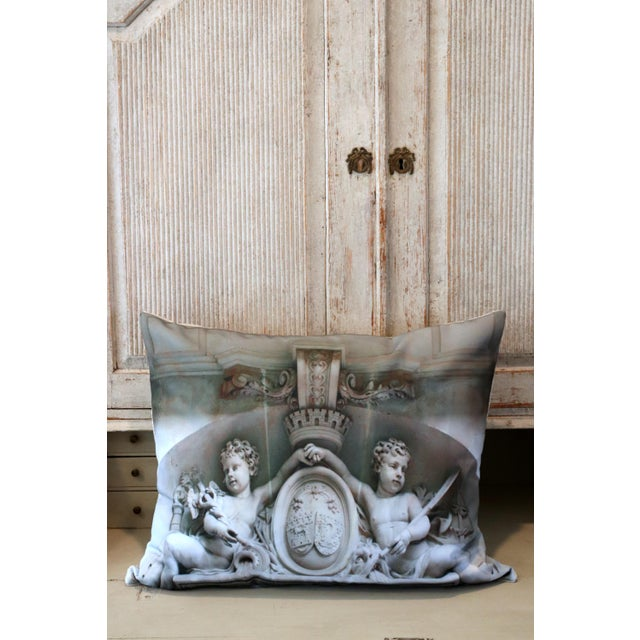 French Architecture Photo Marble Overdoor Pillow For Sale - Image 3 of 13