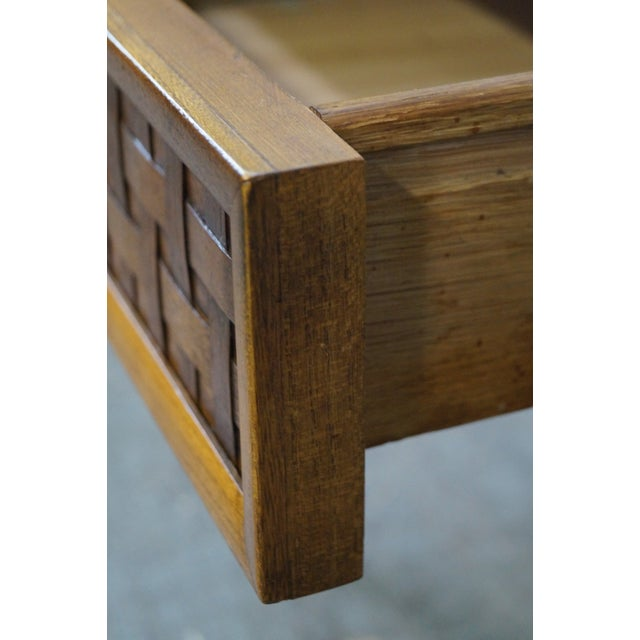 """Lane """"Perspective"""" Walnut End Tables - A Pair - Image 5 of 10"""