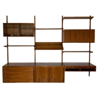 Danish Teak Modular Wall Unit by Thygesen and Sorensen for Hg Furniture For Sale