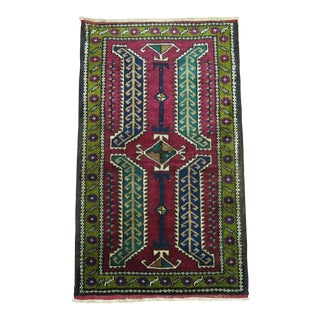 Vintage Turkish Small Rug mat, 1'9'' x 3' For Sale