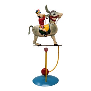Reproduction Donkey and Circus Monkey Articulating Sculpture For Sale