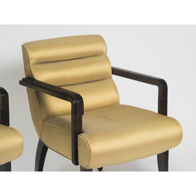 Early 21st Century Swaim Deco Style Armchairs- a Pair For Sale In New York - Image 6 of 8