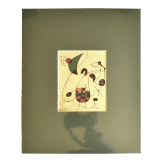 """Vintage Matted Print of """"The Melancholic Singer"""" by Joan Miro For Sale"""