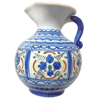 Elaborate Puebla Talavera Pitcher For Sale