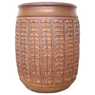 Large Stoneware Bob Kinzie Planter Pot For Sale