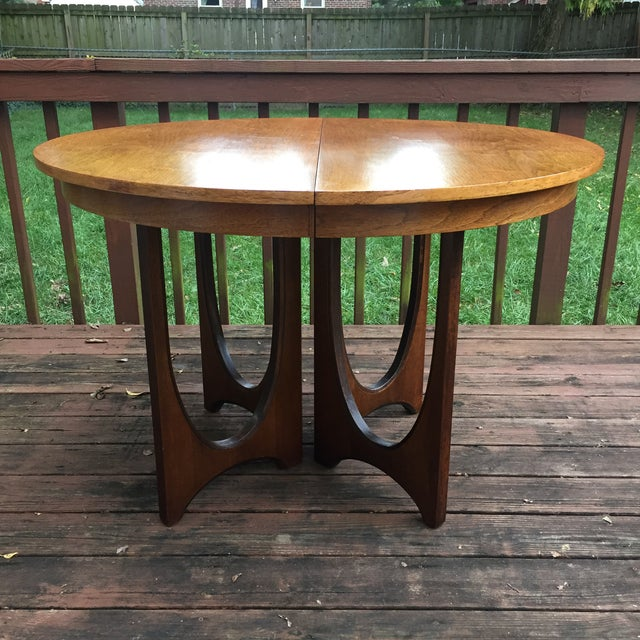 Mid-Century Modern Broyhill Brasilia Dining Table with One Leaf For Sale - Image 3 of 11