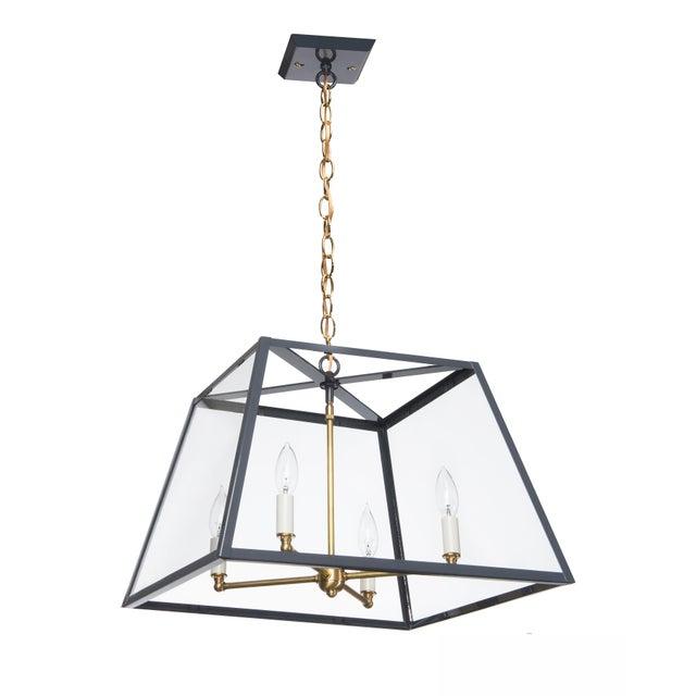 Contemporary Lantern & Scroll Hampton Dunes Pendant Light, Slate Gray For Sale - Image 3 of 3