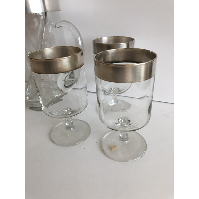 Mid-Century Modern Dorothy Thorpe Allegro Cocktail Set For Sale - Image 3 of 6