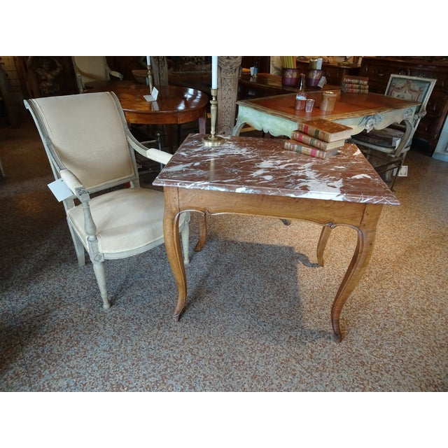 19th Century French Marble Top Table For Sale - Image 11 of 12