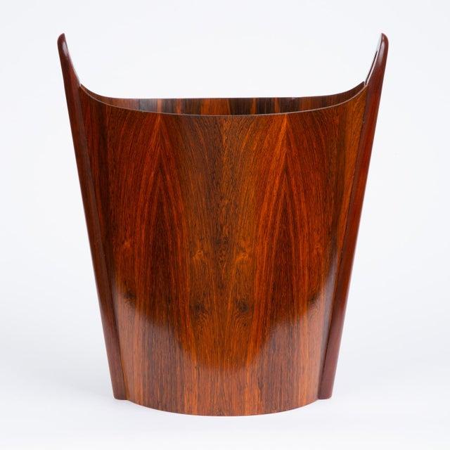 Norwegian Rosewood Wastebasket by Einar Barnes for p.s. Heggen For Sale In Los Angeles - Image 6 of 12