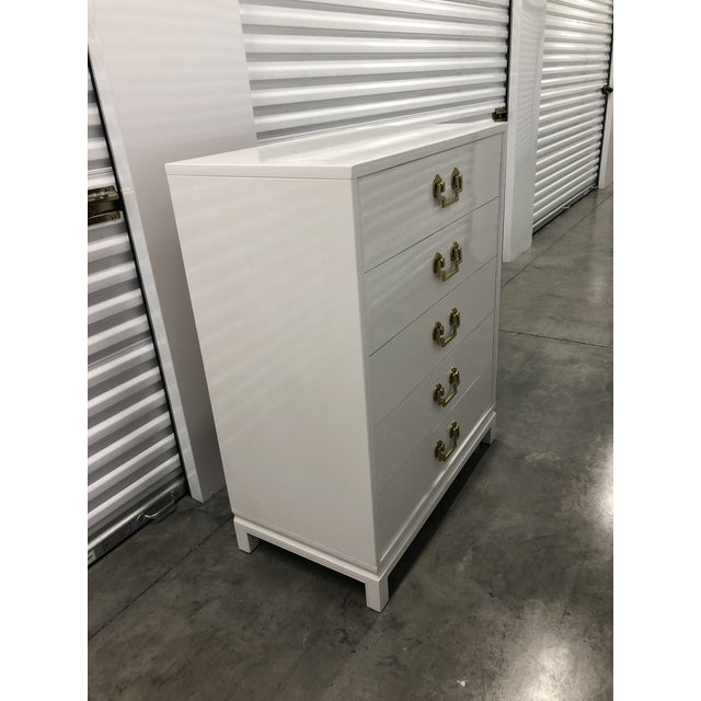 Metal Chinoiserie Style Ribbon Mahogany High Gloss Dresser by Landstrom Furniture For Sale - Image 7 of 10