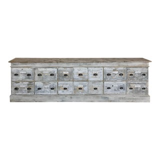 19th Century Rustic Apothecary Store Counter/Credenza For Sale