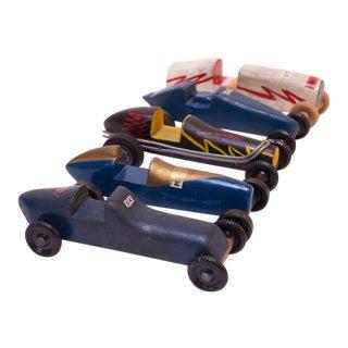 Set of Five Vintage Pinewood Racers For Sale